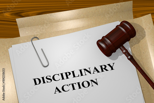 Photo  Disciplinary Action concept