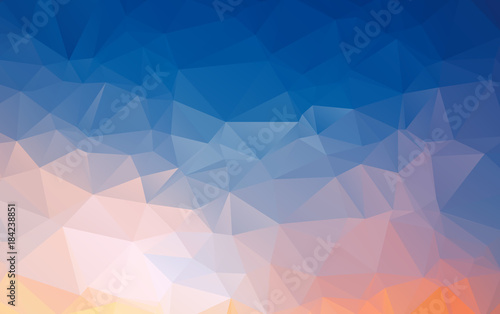 Light Orange vector polygonal illustration, which consist of triangles Wallpaper Mural