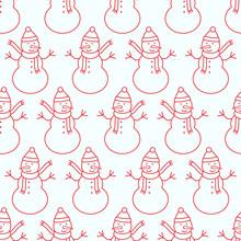 Christmas Seamless Pattern Wit...
