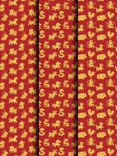 12 Chinese Zodiacs Seamless Pattern Set