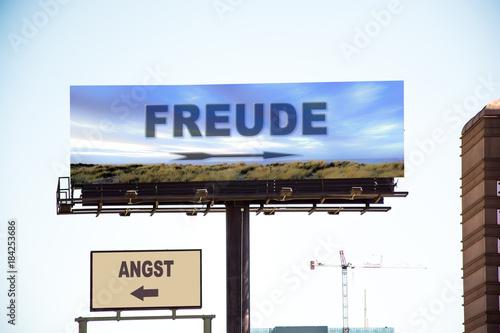 Photo Schild 298 - Freude