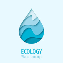 Water Drop Ecology Logo Design...