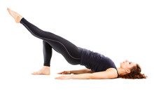 Young Fit Woman Doing Pilates ...