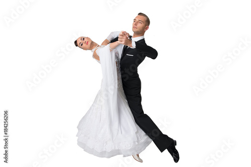 dance ballroom couple in a dance pose Canvas Print