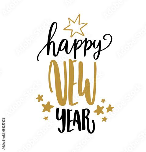 Fotografie, Obraz Happy new year calligraphy