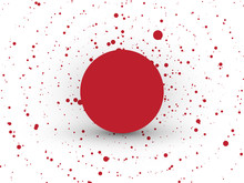 Abstract Red Circle Dots Backg...