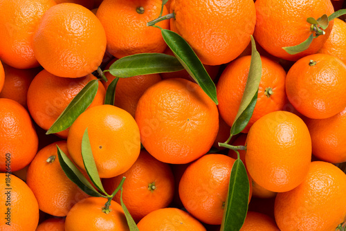 Background of tangerine fruits.
