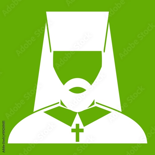 Orthodox priest icon green Canvas Print