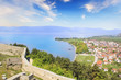 Beautiful view of the coast of Lake Ohrid in Macedonia
