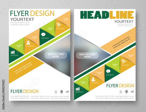 Business Flyer Magazine Cover Poster Brochure Design Layout Template Can Be Used For Publishing Print And Presentation Vector Eps 10 Buy This Stock Vector And Explore Similar Vectors At Adobe