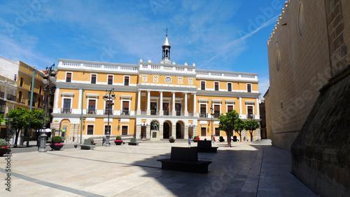 The Palacio Municipal, city hall of the city of Badajoz, Extremadura, Spain