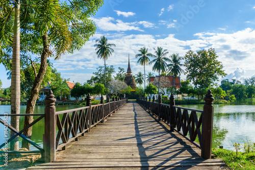 Foto op Aluminium Rudnes Wat Traphang Thong Temple in the precinct of Sukhothai Historical Park, Thailand