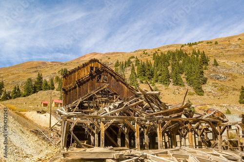 Fotografie, Obraz  Abandoned Mine Building in Silverton Colorado