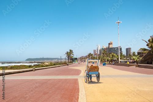 Fotografie, Obraz  Durban south africa promenade rickschaw