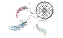 Hand Drawn Ornate Dreamcatcher...
