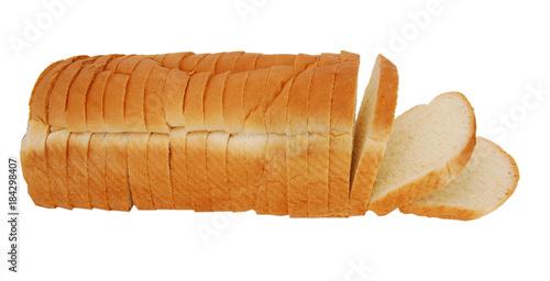 Fotografie, Obraz  sliced bread isolated on white