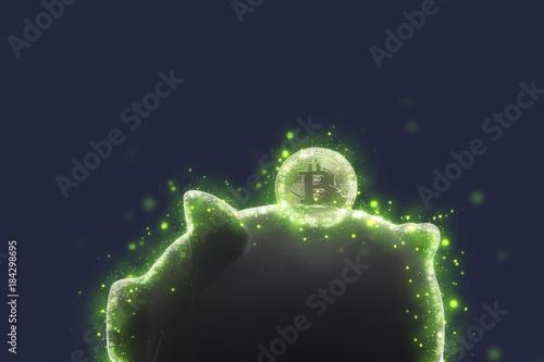Fotomural  Bitcoin