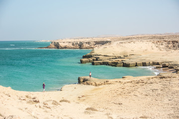 View of the coast of the Persian Gulf