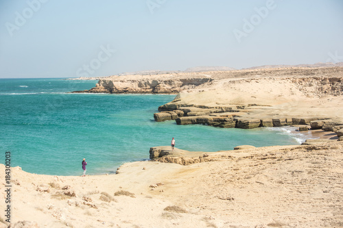 Fotografie, Obraz  View of the coast of the Persian Gulf