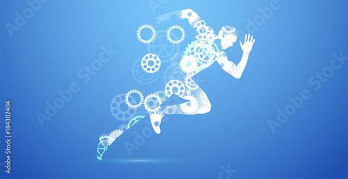 Fototapeta corsa, correre, competizione, sport,ingranaggi