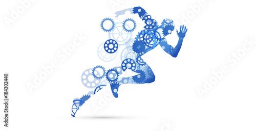 Fotografering  corsa, correre, competizione, sport,ingranaggi