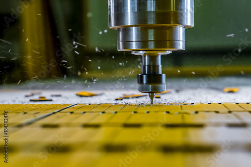 Fotografie, Obraz  Milling of parts on the machine. Spindle cnc.