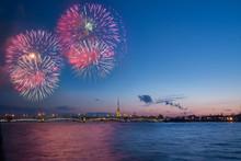 Salute, Fireworks In Saint Pet...