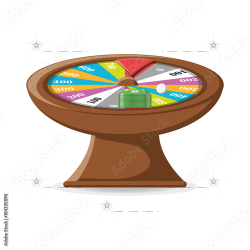 fortune wheel design плакат