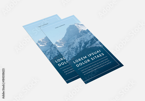 Tri Fold Brochure Layout With Blue Accents 5 Buy This Stock