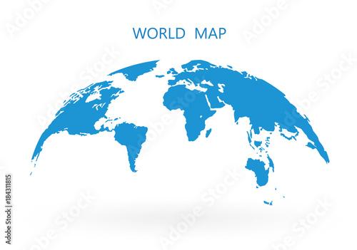 World map globe isolated on white background stock vector buy world map globe isolated on white background stock vector gumiabroncs Image collections