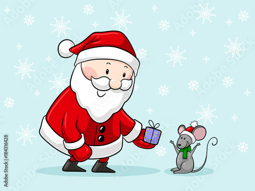 Süßer Comic Weihnachtsmann Buy This Stock Vector And
