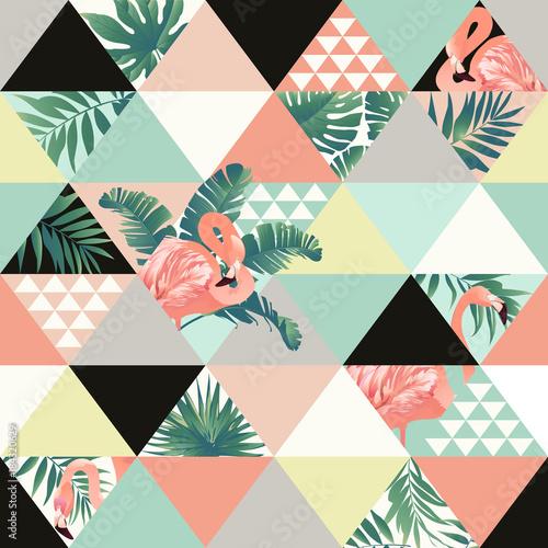 egzotyczny-plazowy-modny-bezszwowy-wzor-patchwork-ilustrujacy-kwiecisci-wektorowi