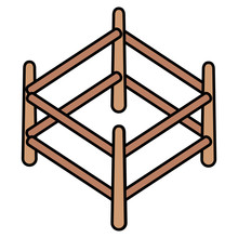 Wooden Corral Isolated Icon