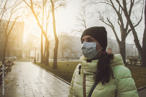 Suffering Wearing And Sick In Face Woman From Mask