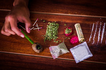 Above View Of Assorted Drugs O...
