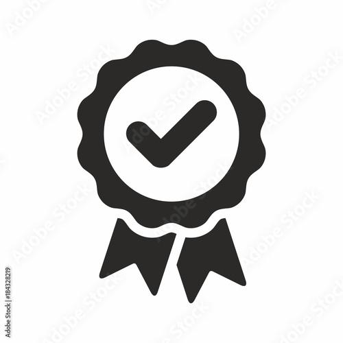 Fotografía  Approval check vector icon