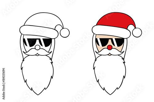Weihnachtsmann Mit Sonnenbrille Zum Ausmalen Buy This