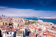 Panoramic view of Istanbul from the Galata tower