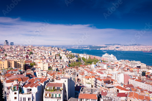 Poster Panoramic view of Istanbul from the Galata tower