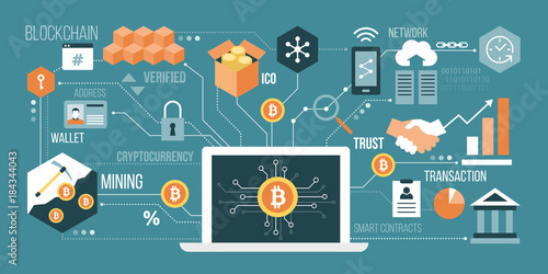 Photo  Bitcoin and cryptocurrency