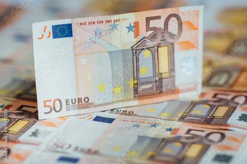 Foto op Aluminium Imagination Pile of 50 euro money banknotes, business background.