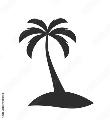 Photo Single palm tree on the island