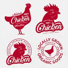 Set Of Chicken Logos, Labels, ...