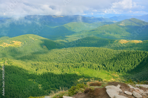 Tuinposter Pistache Beautiful mountain landscape