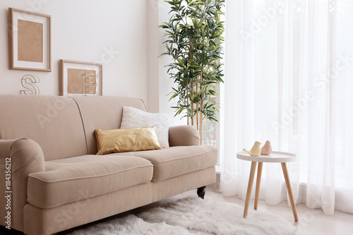 Fotografia  Modern room interior with stylish sofa