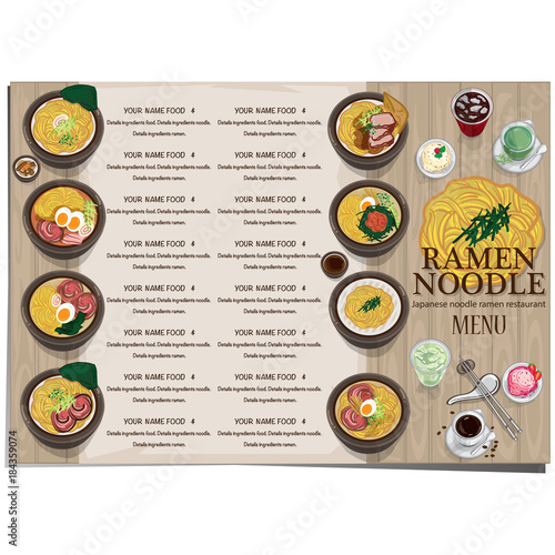 menu ramen noodle japanese food template design - Buy this
