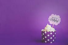Vanilla Cupcake With Small Dec...
