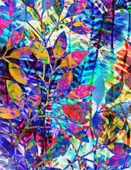 Obraz Floral batik texture repeat modern pattern