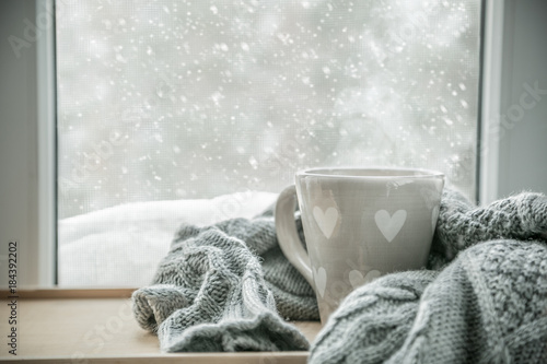 Canvas Prints Tea Winter cozy hot chocolate