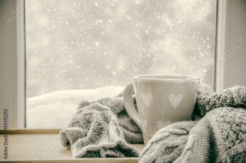 Staande foto Thee Winter cozy hot chocolate